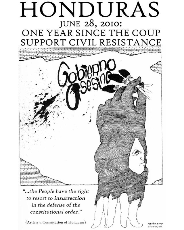 Honduras: One year since the coup / support civil resistance