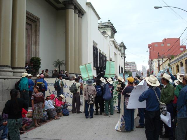 Chixoy communities protest