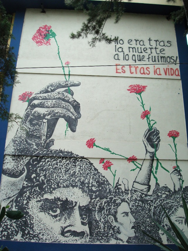 Mural by Ramirez Amaya at the USAC Campus, Guatemala City.
