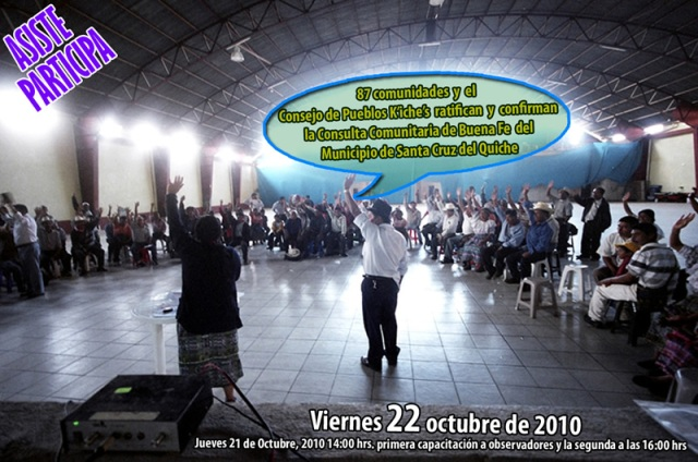 Community consultation, Santa Cruz del Quiche, 22 October 2010
