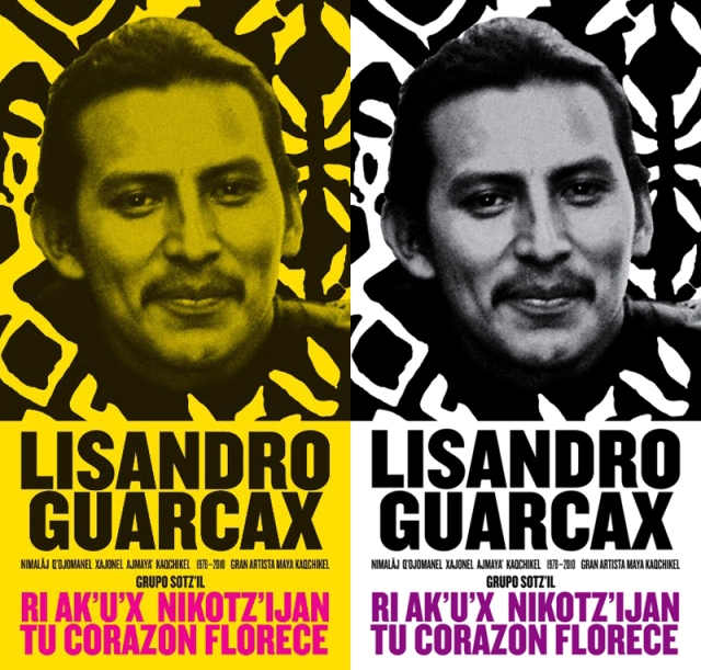 Poster for artistic celebration in honor of Lisandro Guarcax