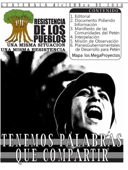 Resistencia de los Pueblos: ¡Tenemos palabras que compartir!