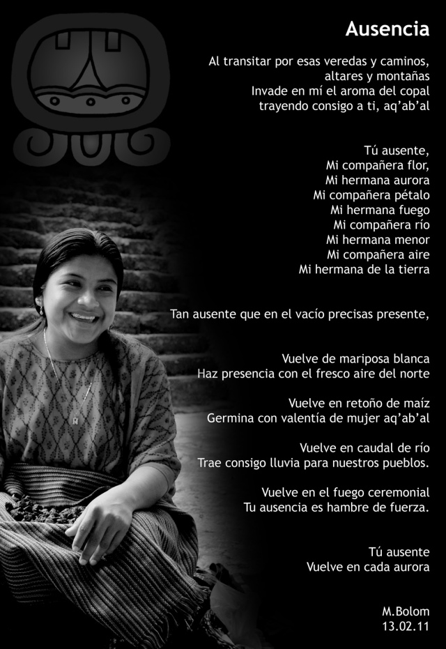 Ausencia - Poema para Catalina Mucú Maas